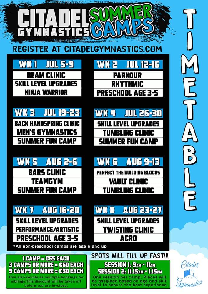 Citadel-Gymnastics-Donegal-Summer-Camps