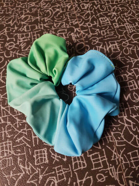 Hair-Scrunchie-Single-Green-Blue-Citadel-Gymnastics-Donegal